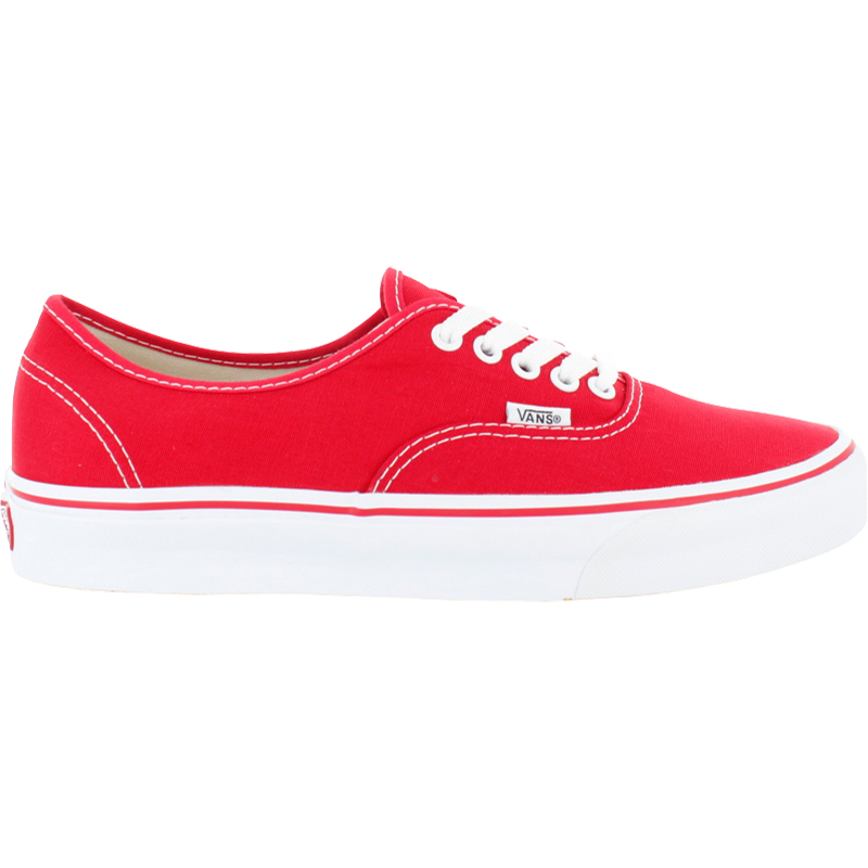 neu vans authentic rot weiss unisexschuhe sneaker ebay. Black Bedroom Furniture Sets. Home Design Ideas