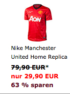 Nike Manchester United Home Replica 12/13 Trikot