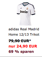 adidas Real Madrid Home 12/13 Trikot